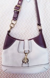 Coach Hook Latch Brown and Beige Purse